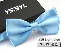 Fashion Men Tuxedo Bow Tie Formal Wedding Bowtie Necktie Light Blue Ties Hot