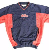 Ole Miss Rebels Nike Team Issue Authentic Pullover Windbreaker Jacket Mens Sz XL