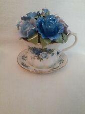 Royal Albert Elegant Moonlight Rose Musical Teacup Plays Blue Danube Waltz