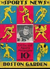 EX PLUS 12/11/1934 Bruins vs NY Americans NHL Program  HOF'er Nels Stewart Cover