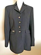 EQUIFIT Dressage JACKET 30L Black Show Coat Black Velvet Collar Riding Jacket