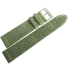 20mm ColaReb Spoleto Green Leather Made in Italy Aviator Watch Band Strap