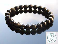 Gold Obsidian Natural Gemstone Bracelet 7-8'' Elasticated Healing Stone Chakra