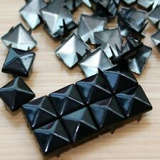 100 Fashion Pyramid Shape Metal Clothing Studs Rock Punk Leather Bags Shoes Goth