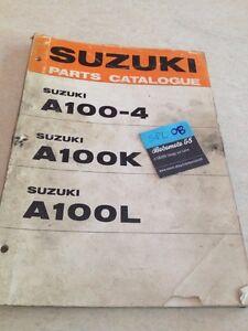 Suzuki A100-4 A100 K L A 100 Piezas List Catálogo Lista Pieza Separa Ed.73