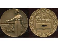 grosse Médaille de bronze Prévention Routière. Pierre Turin. Attribuée.