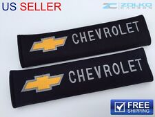 CHEVY SHOULDER PADS SEAT BELT 2PCS CAMARO IMPALA MALIBU Z28 CHEVROLET GOLD SP07