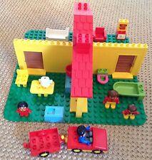 Vintage Lego Duplo House bundle - figures, car, kitchen, bathroom, baseplate etc