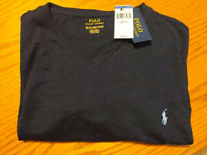 Ralph Lauren Polo Navy Blue Short Sleeve V Neck Tee T Shirt 4xB 4X New w/ Tags