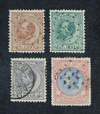 CKStamps: Netherlands Stamps Collection Scott#24 29 32 33 Used #32 33 Thin Tear