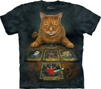 The Mountain Adult The Reader Tarot Cat Lisa Parker T Shirt