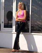 Casual Latex Rubber Pants for Women with Belt Unique Trousers Leggings New