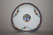 Vtg Japan Noritake Hand Paint Art Pottery Porcelain 3 Handled Dish Fruit Pattern