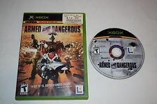 Armed and Dangerous Microsoft Xbox Game Disc w/ Case