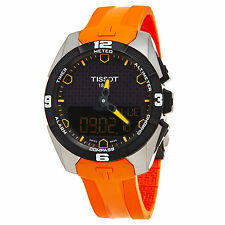 Tissot T-Touch Expert Solar Black Analog Digital Dial Orange Rubber Men's Watch