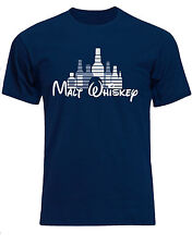 Malt Whiskey Funny Disney Castle Style Quirky Hangover Mens Tshirt Tee Top Ab78 M Navy Blue