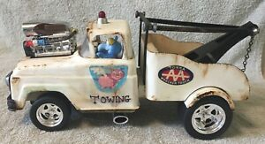 TONKA PRESSED STEEL WRECKER -TOW TRUCK WITH BLOWER & GONZO DRIVING ANTIQUE CAR