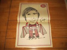 1972 Sport Images Vintage Poster of KEN DRYDEN Montreal Canadiens Caricature