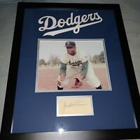 Jackie Robinson Signed Autographed 16x20 Cut Brooklyn Dodgers Framed Picture COA