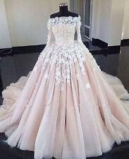 White Ivory Wedding Dress Bridal Gown custom Size : 4 6 8 10 12 14 16 18 20+