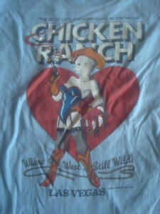 Vtg CHICKEN RANCH Best Little Whorehouse in West T Shirt