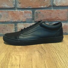 Vans triple-black leather sneakers size 14
