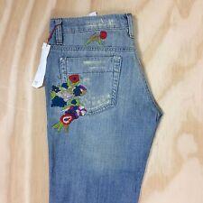 NWT Joe's Jeans 28 Embroidered Boho Vtg Series 1971 Distressed Socialite Havens