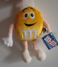 """Yellow M&M 8.5"""" Bean Bag Plush - 2000 Commonwealth Officially Licensed New"""