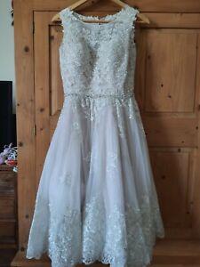 JJS HOUSE KNEE LENGTH WEDDING DRESS  Size 10 BNWT