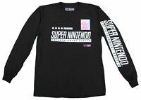 Super Nintendo Entertainment System Video Game Tee T-Shirt Black New Mens