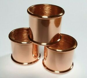 Beaded COPPER Collars Choice of 21mm, 23mm or 25mm i/d. for Walking Stick Making