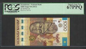Kazakhstan 1000 Tenge ND (2013), P 44 Uncirculated Gradfe 67