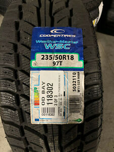 1 New 235 50 18 Cooper Weather Master WSC Snow Tire