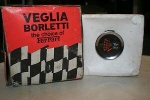 NOS Veglia Borletti Oil Pressure Gauge Classic Fiat Alfa Romeo Maserati Ferrari