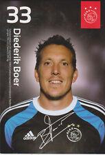 AUTOGRAMMKARTE / AUTOGRAPHCARD Diederik Boer Ajax Amsterdam 2014/2015