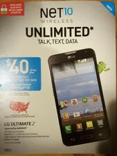 "LG Ultimate 2 L41C (Net 10) Black Android Smartphone 4.5"" Touchscreen 5MP N.O."