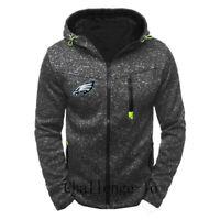 Philadelphia Eagles Football Hoodie Zipper Sweatshirt Jacket Casual Coat Top