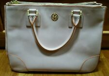 Pre-owned Tory Burch Robinson Double Zip Tote in Tuberose Pink