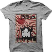 Godzilla Totoro Rising Sun Battle printed t-shirt 9109