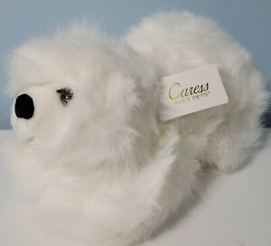 "Vintage Russ Caress 16"" Polar Bear Plush NWT Stuffed Animal RARE Russ Berrie"