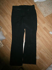Vtg Sportina Superflex Mens Size 34 Regular Wool Lycra Nylon Black Ski Pants