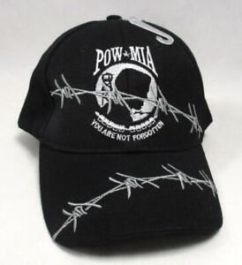 POW MIA You Are Not Forgotten Baseball Cap Hat Barbed Wire Veteran Memorial