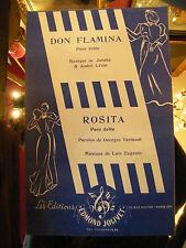 Partition Don Flamina Jonato André Lézin Rosita Luis Eugenio 1952