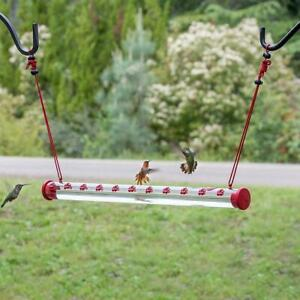 Bob's Best Hummingbird Feeder with Hole Birds Feeding Pipes Easy to Use 40cm