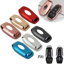 TPU Remote Smart Key Cover Fob Case Shell For Ford Fusion Explorer & Lincoln MKZ