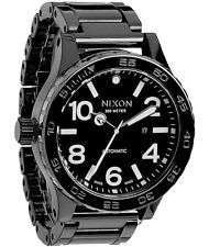 RARE Nixon Men's  BLACK Ceramic 51-30 Analog Display Swiss Automatic Watch