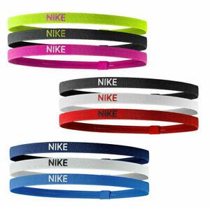 Nike Hairband Headband 3 Pack Sports Band Unisex Women Men New Black Gym Running