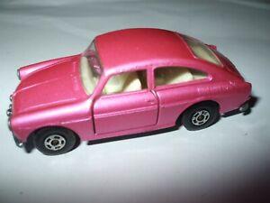 Matchbox Lesney Superfast #67 Volkswagen 1600TL in pink, RARER WIDE wheels MINT!