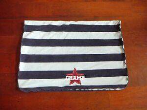 Navy & Blue Stripe Velour Baby Boy Blanket CHAMP Maroon Star Pale Blue Sherpa