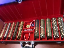 RARE BRASS SET OF 2005 World Series of Poker 500 Chip Set  $1-$500 Chips